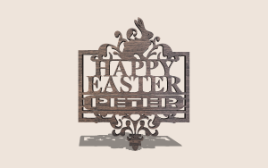 Regal Easter Sign Digital Scroll Saw Pattern The Holz Brothers