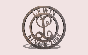 Round Monogram Door Hanger Personalizable Scroll Saw Pattern The Holz Brothers
