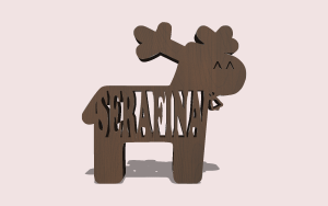 Reindeer Name Ornament PDF Scroll Saw Pattern The Holz Brothers