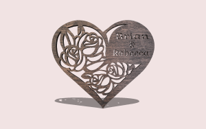 Blooming Heart Personalizable Scroll Saw Pattern The Holz Brothers