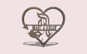 Gothic Arrow Heart Downloadable Scroll Saw Pattern The Holz Brothers