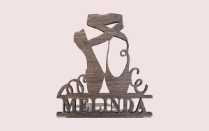 Ballerina Monogram Downloadable Scroll Saw Pattern The Holz Brothers