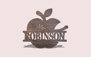Teacher Plaque Personalizable Scroll Saw Pattern The Holz Brothers