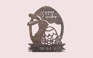 Secret of the Easter Bunny Personalizable Scroll Saw Pattern The Holz Brothers