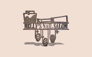 Nail Salon Sign Customizable Scroll Saw Pattern The Holz Brothers
