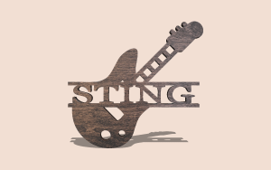 String Bass Electric Guitar Customizable Scroll Saw Pattern The Holz Brothers