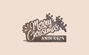 Custom Merry Christmas Sign Customizable Scroll Saw Pattern The Holz Brothers