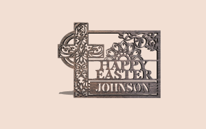 Intricate Easter Celebration Plaque Digital Scroll Saw Pattern The Holz Brothers