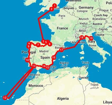 Portogallo Spagna Cartina.L Innaugurazione Spagna Portogallo E Tenerife The Journey Of Dreams The Nomadic Life Of A Dreamer