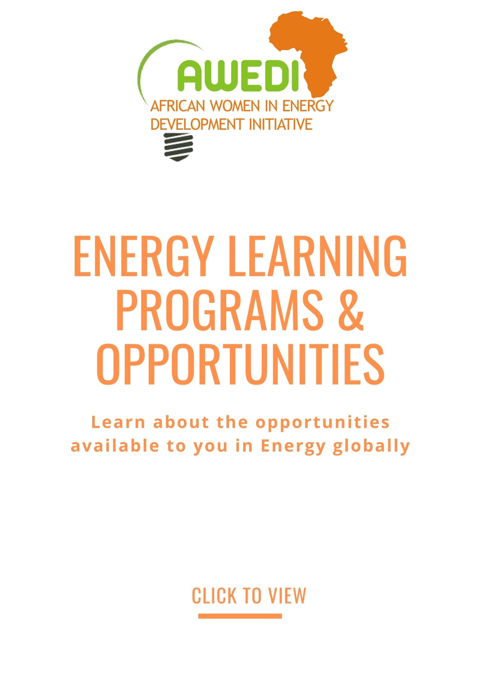 Energy learning programs and opportunities