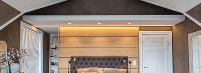 LED strips: Bedroom