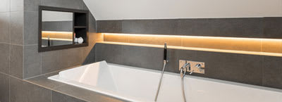 LED strips: Bathroom