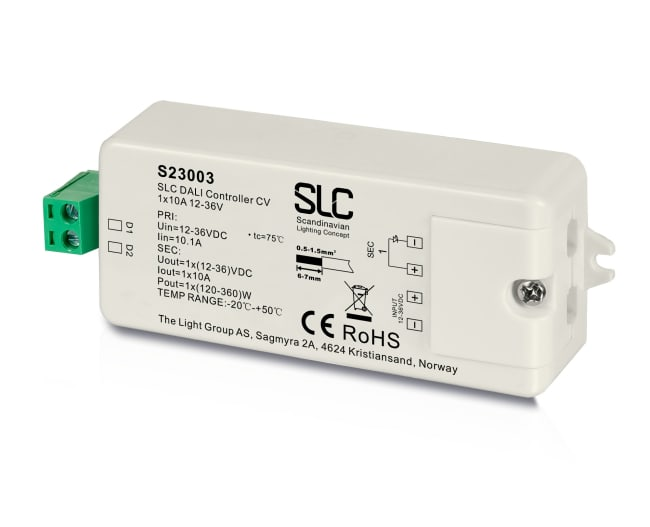 SLC DALI DT6 Controller 12 36V CV 1x10A The Light Group