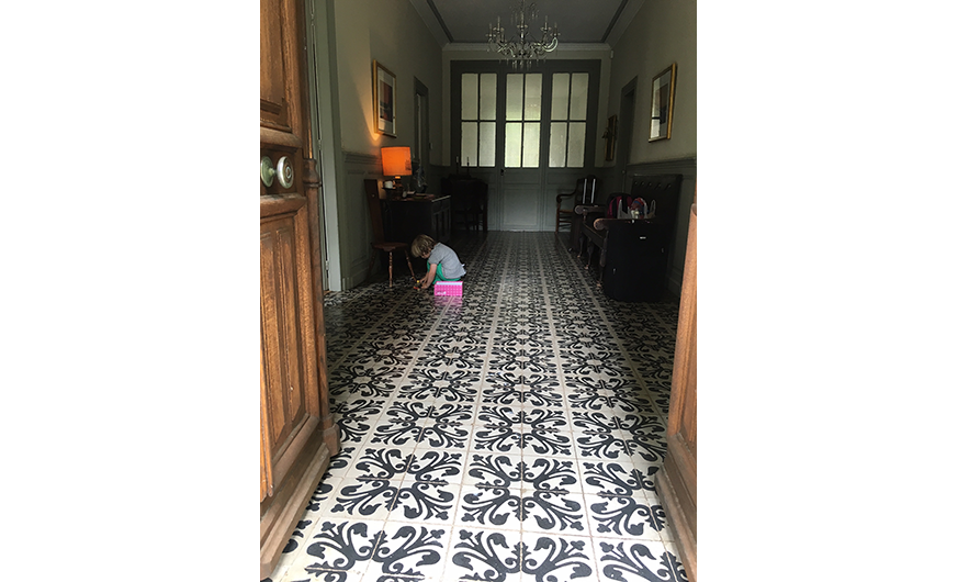 french rural retreat hallway