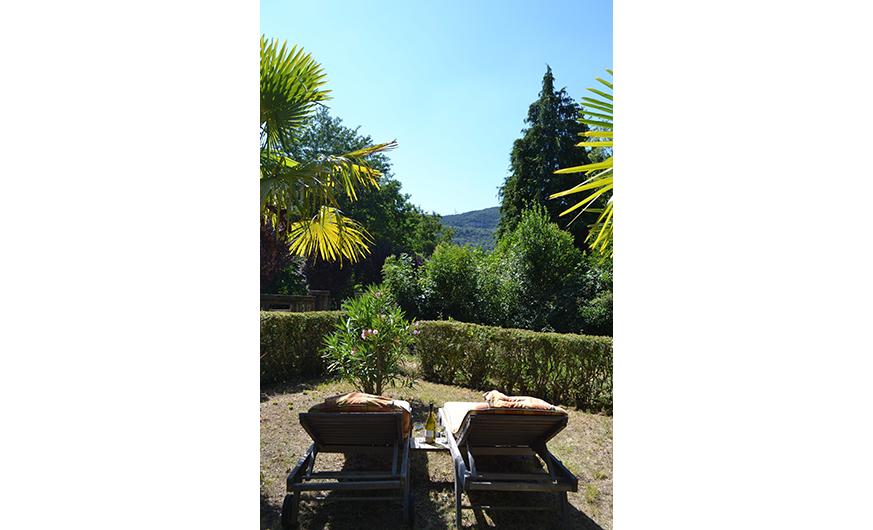 french rural retreat deckchairs