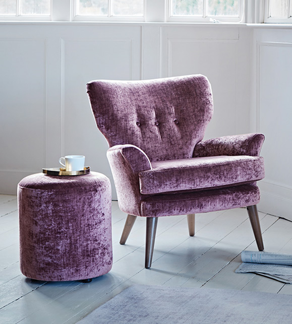 Noah Chair in Crushed Velvet - Spring Squill