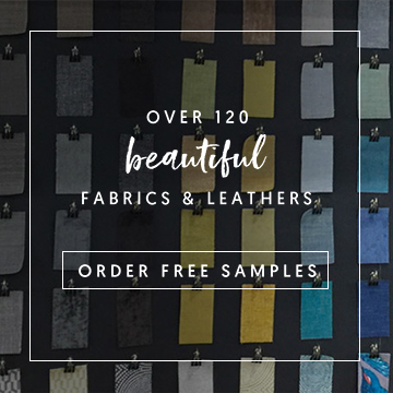 over 120 beautiful fabrics & leathers | order free samples