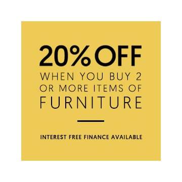 20% off when you buy 2 or more items of furniture
