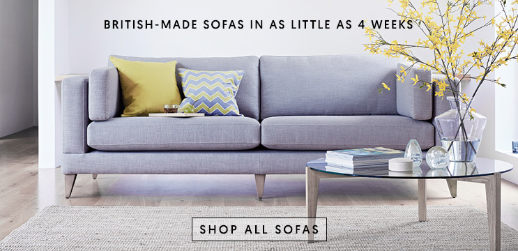 British-made sofas in as little as 4 weeks | Shop all sofas