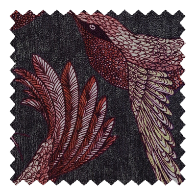 Paradise Bird Mulberry Swatch