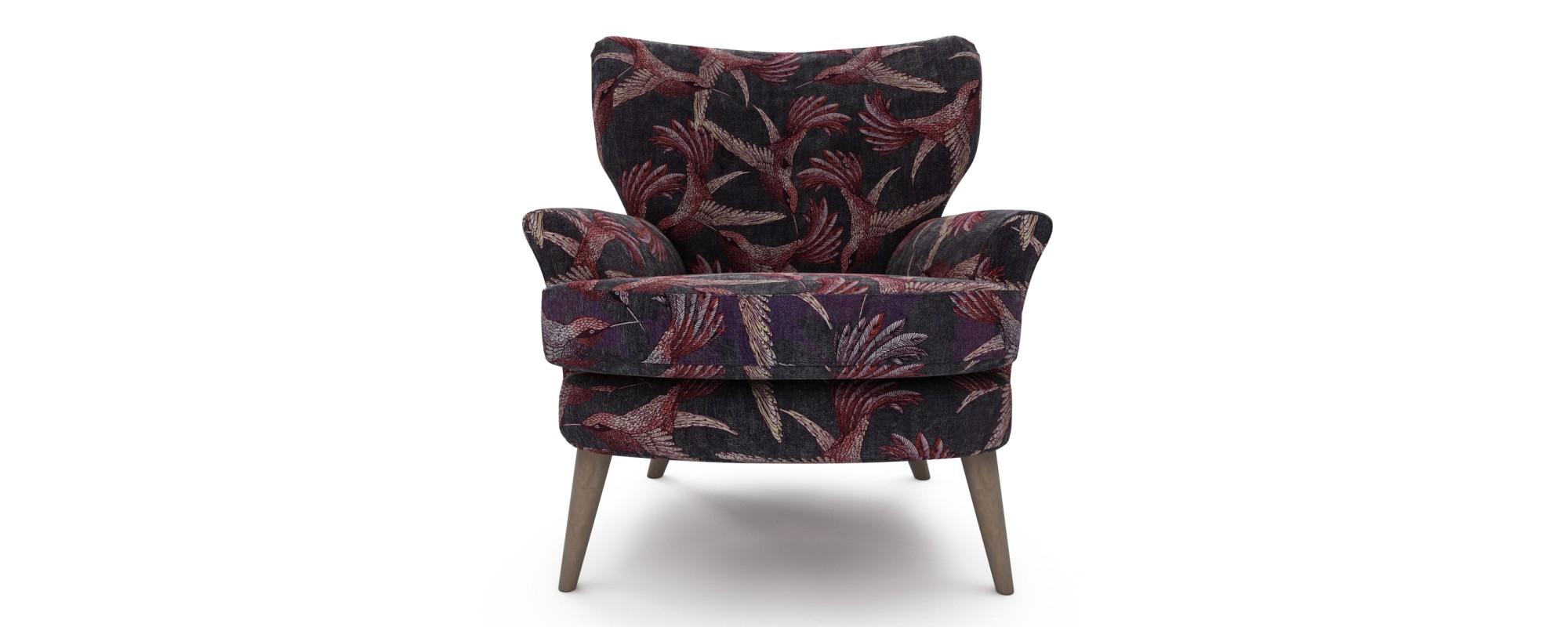 Noah Chair, Paradise Bird Mulberry by Lorna Lucas