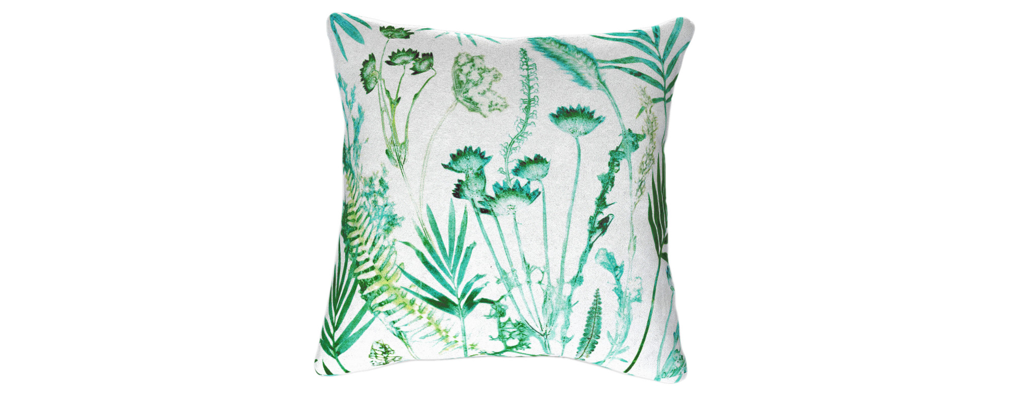 Botanical Teal Designed Cushion by Gillian Arnold