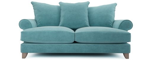 Briony 2.5 Seater Pillow Back, Blue Larimar