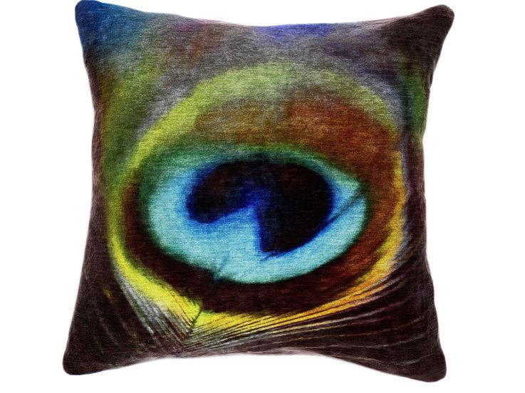 Abstract Peacock Cushion