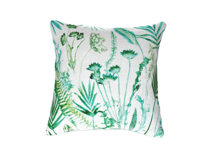 Botanical Teal Cushion