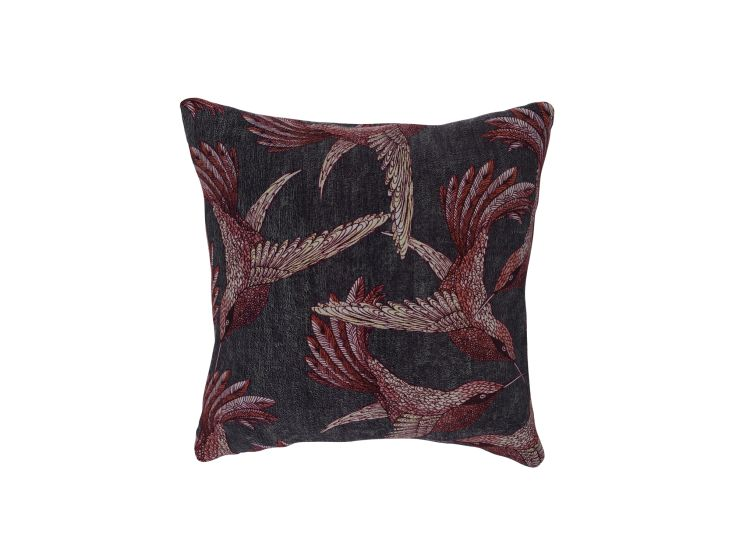 Paradise Bird Mulberry Cushion