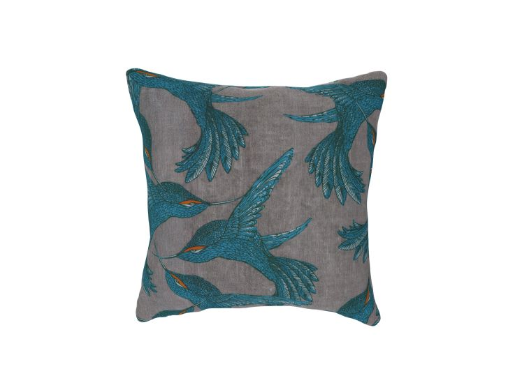 Paradise Bird Grey Cushion