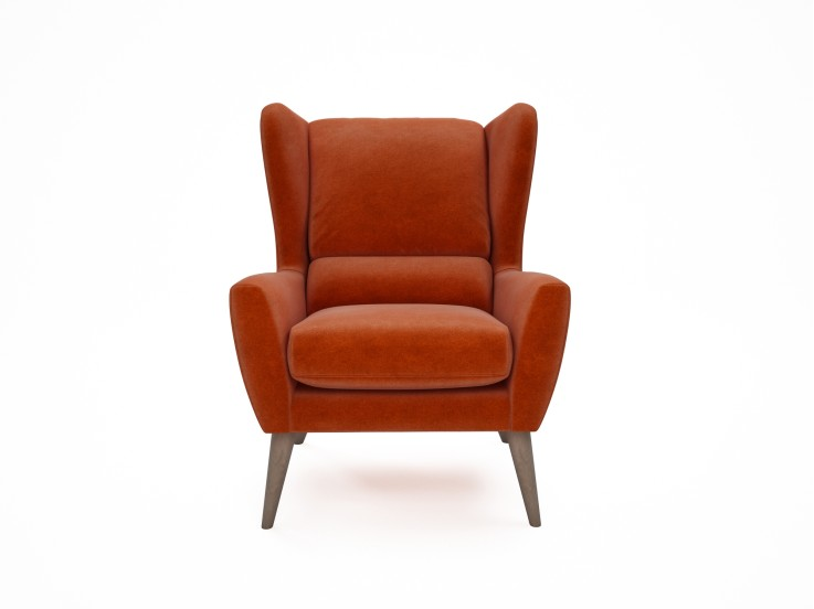 Floyd Chair in Mandarin Garnet with Washed Oak feet