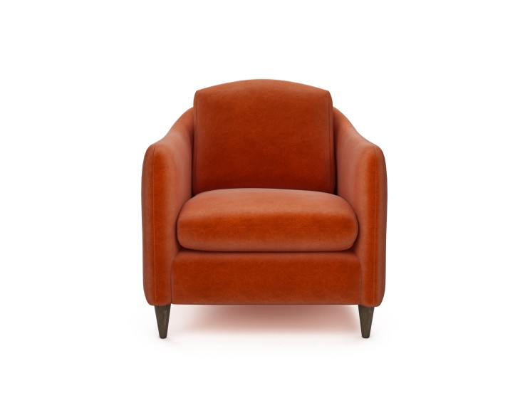 George Chair in Mandarin Garnet with Vintage Oak feet