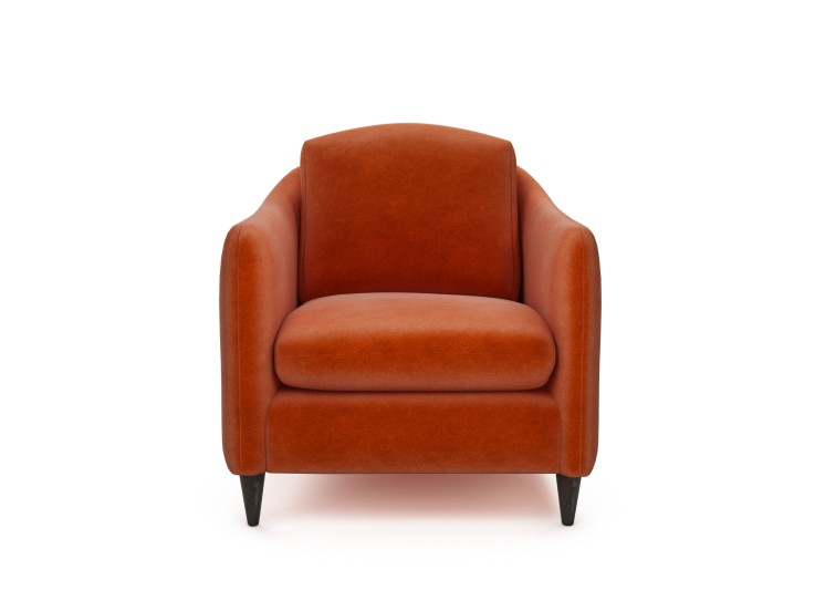 George Chair in Mandarin Garnet with Walnut feet