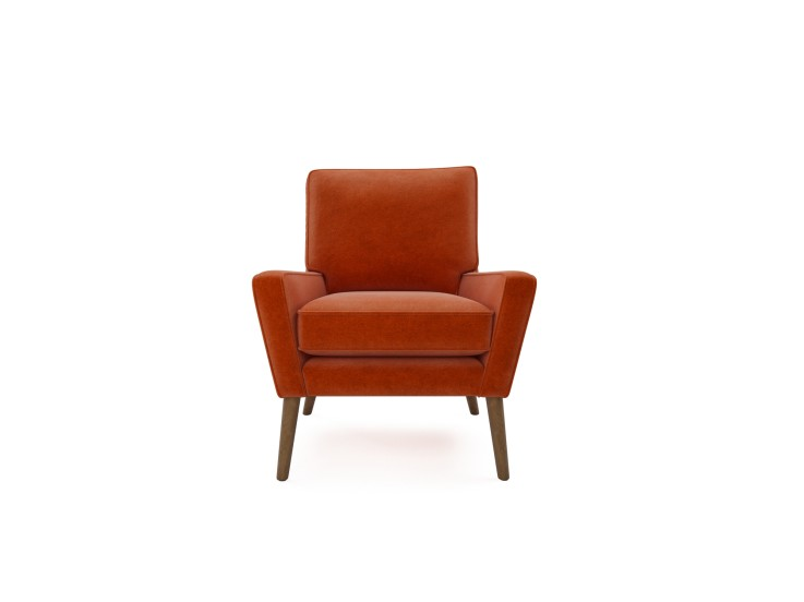 Hector Chair in Mandarin Garnet with Vintage Oak feet