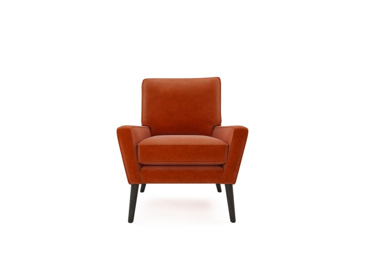 Hector Chair in Mandarin Garnet with Walnut feet