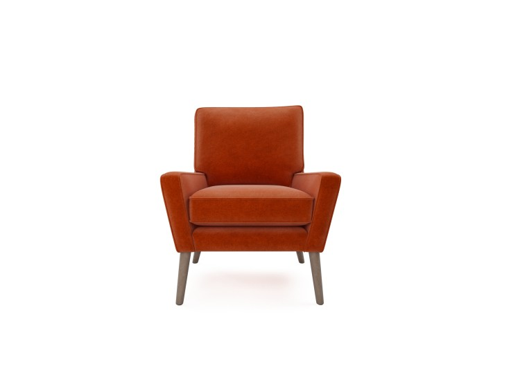 Hector Chair in Mandarin Garnet with Washed Oak feet