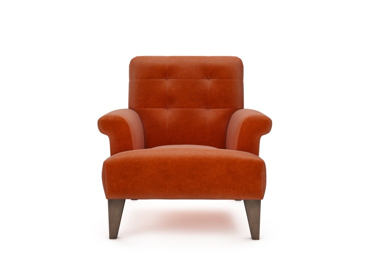 Joseph Chair in Mandarin Garnet with Vintage Oak feet