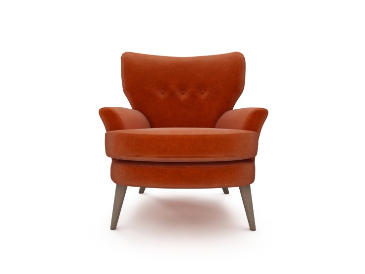 Noah Chair in Mandarin Garnet with Washed Oak feet