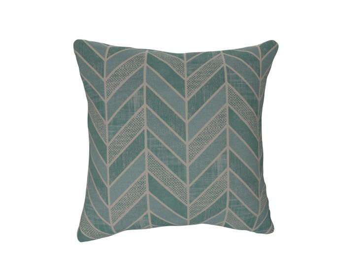 Crafty Chevron Aqua Cushion