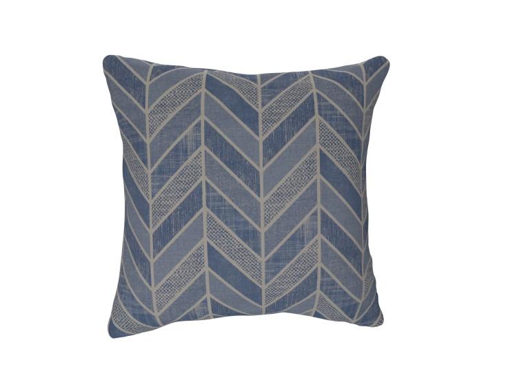 Crafty Chevron Denim Cushion