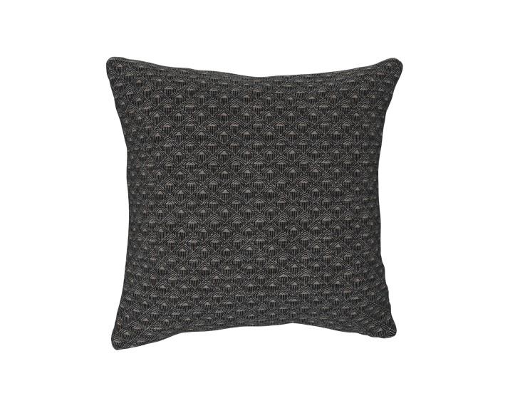 Deco Diamond Charcoal Cushion