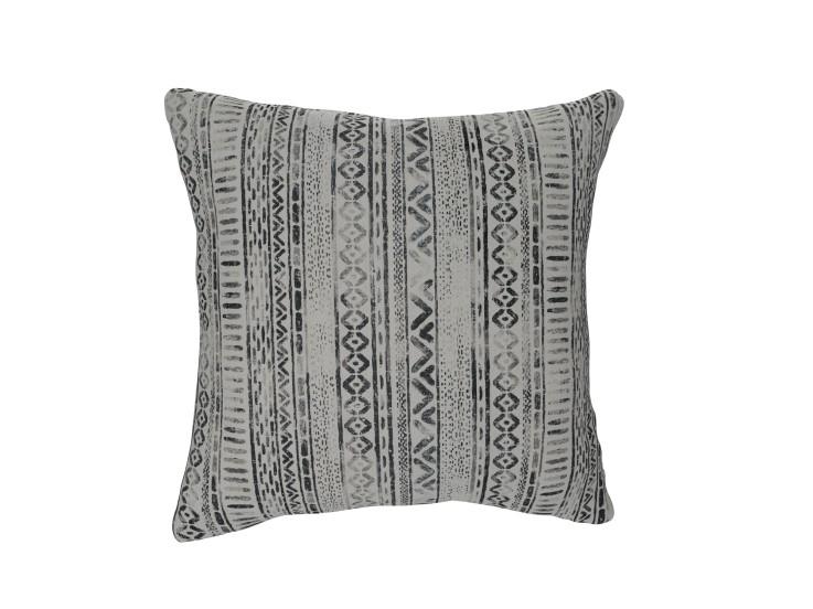 Geo Smudge Charcoal Cushion
