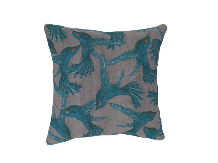 Paradise Bird Grey Cushion