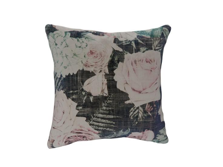 Midnight Garden Frost Cushion