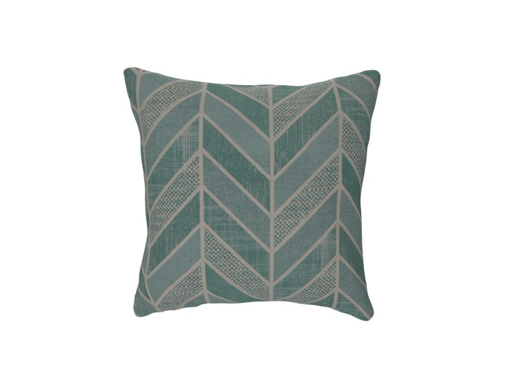 Crafty Chevron Aqua Cushion