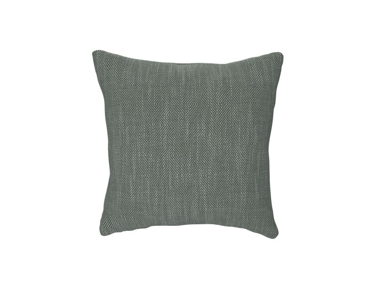 Crossed Paths Green Cushion