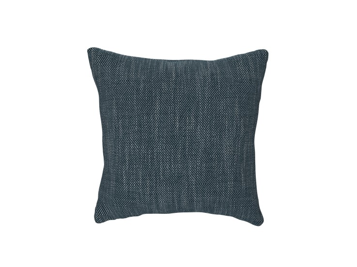 Crossed Paths Indigo Cushion