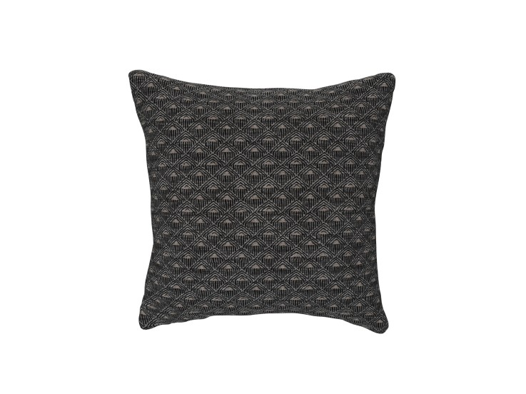 Deco Diamond Charcoal Cushion