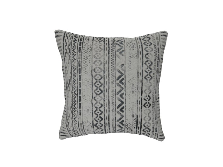 Geo Smudge Charcoal Cushion